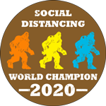 Social Distancing World Champion 2020 Label