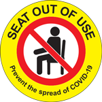 Seat Out of Use Label