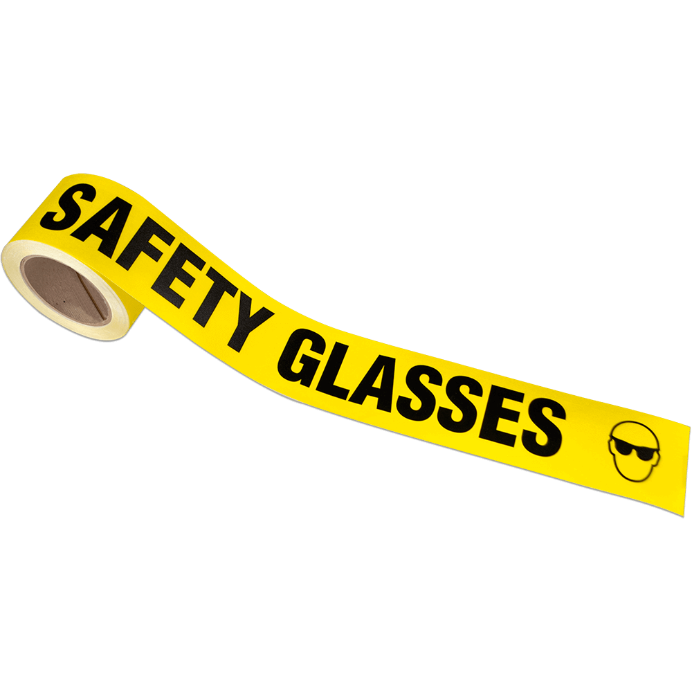Safety Glasses Message Tape