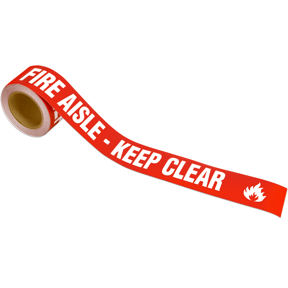 Fire Aisle Keep Clear Warning Tape