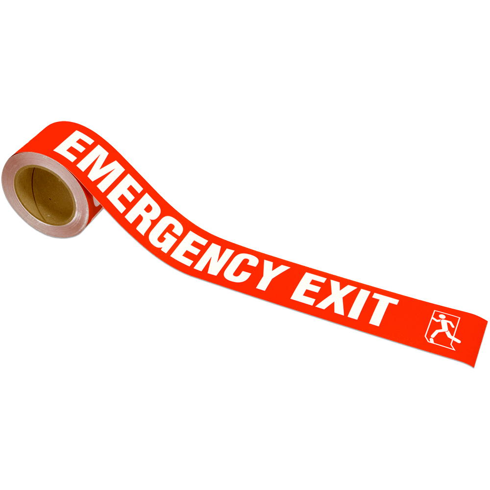Emergency Exit Warning Tape