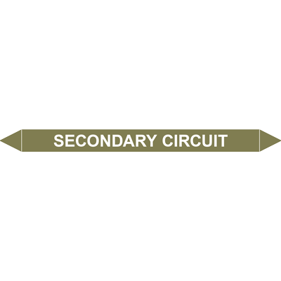 SECONDARY CIRCUIT European Pipe Marker