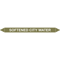 SOFTENED CITY WATER European Pipe Marker