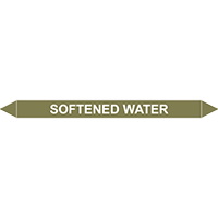 SOFTENED WATER European Pipe Marker