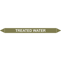 TREATED WATER European Pipe Marker