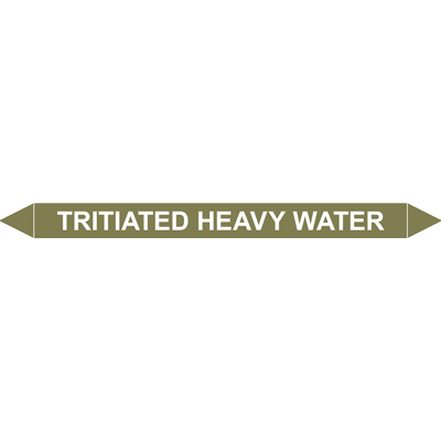 TRITIATED HEAVY WATER European Pipe Marker