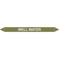 WELL WATER European Pipe Marker