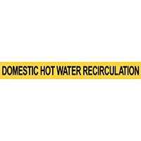 Pre-2007 ANSI Domestic Hot Water Recirculation Pipe Marker
