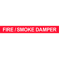 Fire / Smoke Damper Pipe Marker