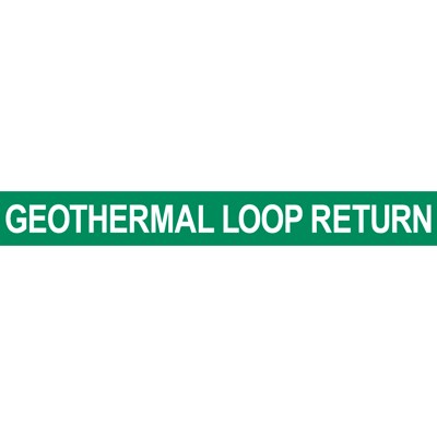 Geothermal Loop Return Pipe Marker