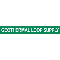 Geothermal Loop Supply Pipe Marker