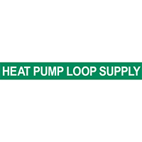 Heat Pump Loop Supply Pipe Marker