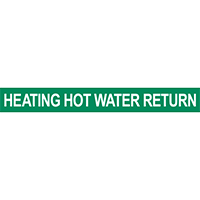 Heating Hot Water Return Pipe Marker