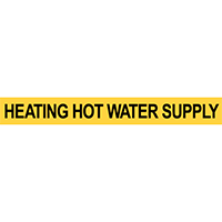Pre-2007 ANSI Heating Hot Water Supply Pipe Marker