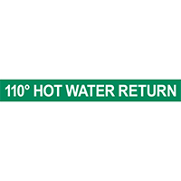 110° Hot Water Return Pipe Marker