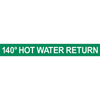 140° Hot Water Return Pipe Marker