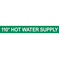 110° Hot Water Supply Pipe Marker