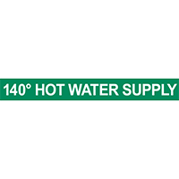 140° Hot Water Supply Pipe Marker