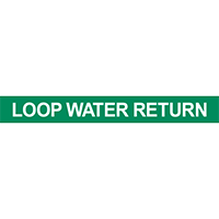 Loop Water Return Pipe Marker