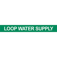 Loop Water Supply Pipe Marker
