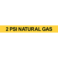 2 PSI Natural Gas Pipe Marker
