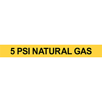 5 PSI Natural Gas Pipe Marker