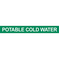 Potable Cold Water Pipe Marker