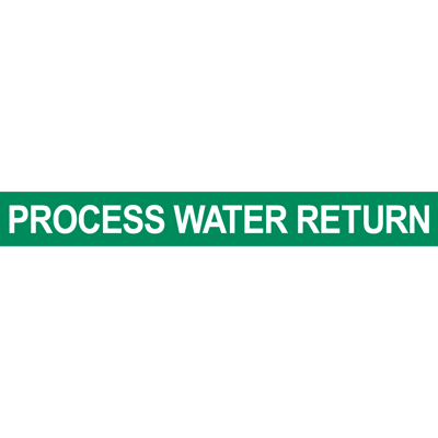 Process Water Return Pipe Marker