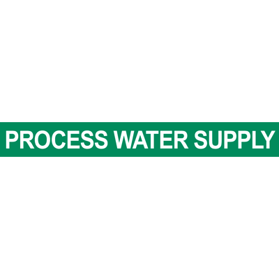 Process Water Supply Pipe Marker