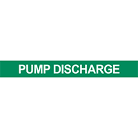 Pump Discharge Pipe Marker