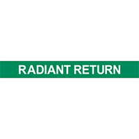 Radiant Return Pipe Marker