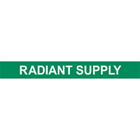 Radiant Supply Pipe Marker