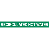 Recirculated Hot Water Pipe Marker for Water