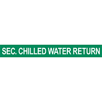 Sec. Chilled Water Return Pipe Marker