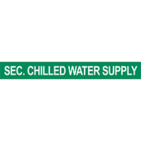 Sec. Chilled Water Supply Pipe Marker