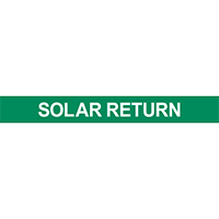 Solar Return Pipe Marker