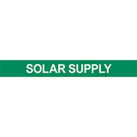 Solar Supply Pipe Marker