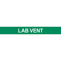 Lab Vent Pipe Marker for Water