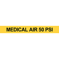 Medical Air 50 PSI Pipe Marker