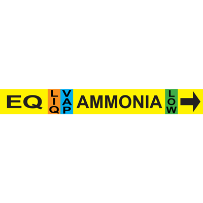Equalizer AMMONIA Pipe Marker