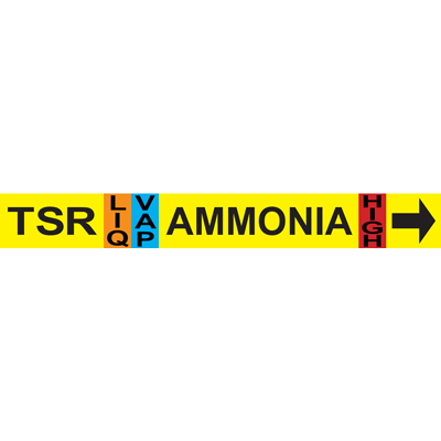 Thermosyphon Return AMMONIA Pipe Marker