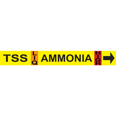 Thermosyphon Supply AMMONIA Pipe Marker