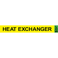 HEAT EXCHANGER Ammonia Component Pipe Markers