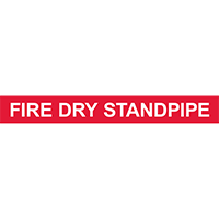 FIRE DRY STANDPIPE PIPE MARKER