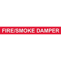 FIRE/SMOKE DAMPER PIPE MARKER