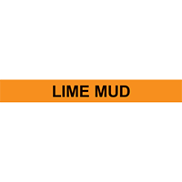 LIME MUD PIPE MARKER
