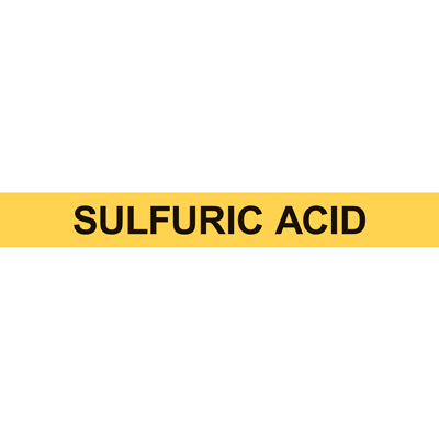 SULFURIC ACID PIPE MARKER