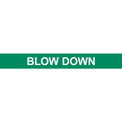BLOW DOWN PIPE MARKER