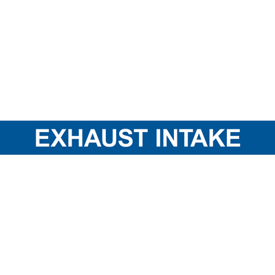 EXHAUST INTAKE PIPE MARKER
