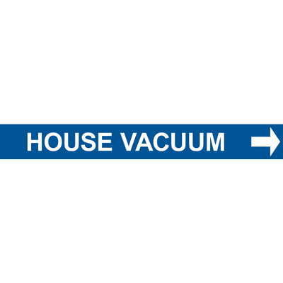 HOUSE VACUUM PIPE MARKER W/ ARROW